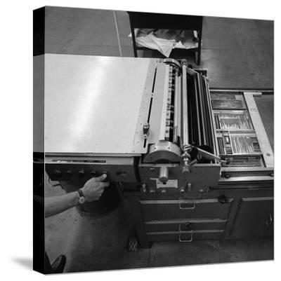 A Proofing Press with Plates at the White Rose Press, Mexborough, South Yorkshire, 1968-Michael Walters-Stretched Canvas Print