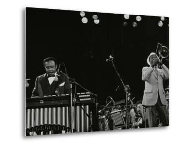 Lionel Hampton (Vibraphone) and Al Grey (Trombone) on Stage at Knebworth, Hertfordshire, July 1982-Denis Williams-Metal Print