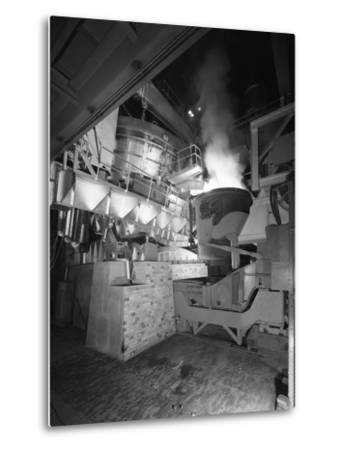 Steel Pour from an Electric Arc Furnace, Park Gate Iron and Steel Co, Rotherham, Yorkshire, 1964-Michael Walters-Metal Print
