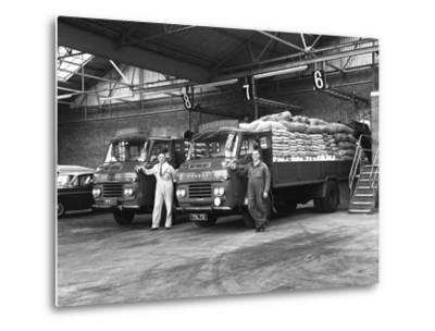 Commer Lorries at Spillers Foods Ltd, Gainsborough, Lincolnshire, 1962-Michael Walters-Metal Print