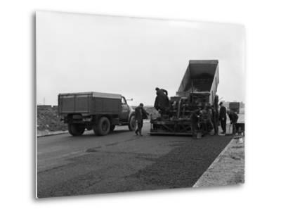 A Bedford A3S Tipper on the Site of Manvers Coal Prep Plant, South Yorkshire, 1955-Michael Walters-Metal Print