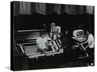 German Electronic Musician Klaus Schulze at the Forum Theatre, Hatfield, Hertfordshire, 1983-Denis Williams-Stretched Canvas Print