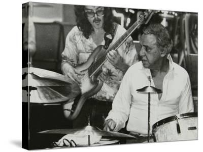 Buddy Rich and Dave Carpenter Playing at the Royal Festival Hall, London, June 1985-Denis Williams-Stretched Canvas Print