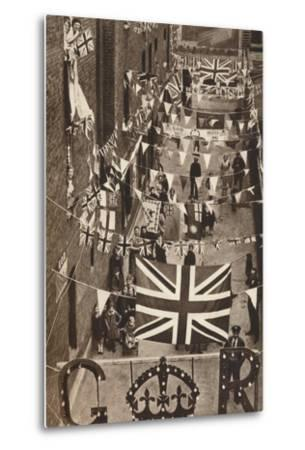 Blackfriars, London, Decoarted for King George Vis Coronation, 1937--Metal Print
