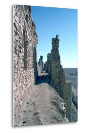 Sentry Walk, Fortress of Al Ukhaidir, Iraq, 1977-Vivienne Sharp-Metal Print