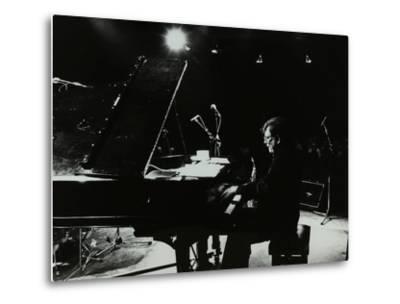 American Pianist Dick Wellstood Playing at Potters Bar, Hertfordshire, 1986-Denis Williams-Metal Print