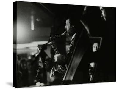 Saxophonist Bob Sydor Playing at the Torrington Jazz Club, Finchley, London, 1988-Denis Williams-Stretched Canvas Print