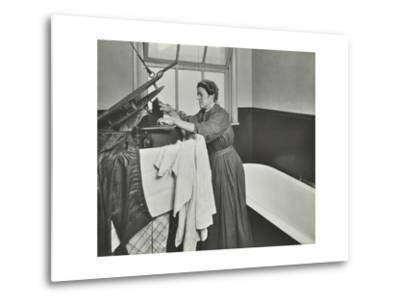 Nurse Using a Steriliser in the Bathroom at Chaucer Cleansing Station, London, 1911--Metal Print