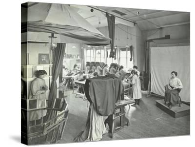 Photography Students at Work, Bloomsbury Trade School for Girls, London, 1911--Stretched Canvas Print