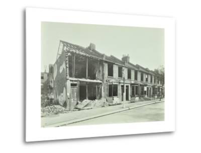 Bombed Houses, Trigo Road, Poplar, London, Wwii, 1943--Metal Print
