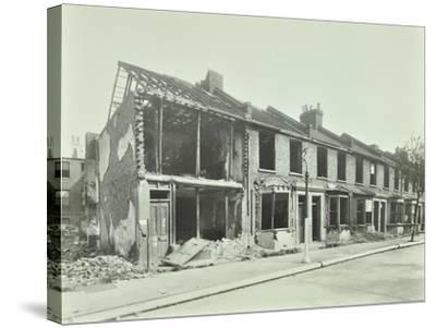 Bombed Houses, Trigo Road, Poplar, London, Wwii, 1943--Stretched Canvas Print