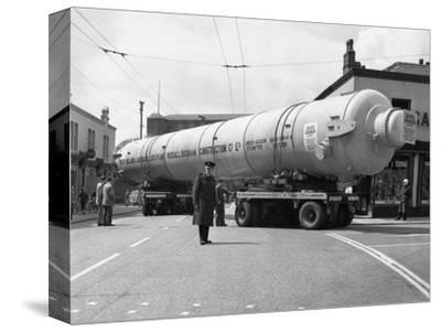 A Heavy Load Stops the Manchester Traffic, 1962-Michael Walters-Stretched Canvas Print