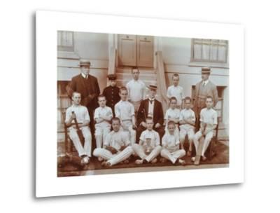 Cricket Team at the Boys Home Industrial School, London, 1900--Metal Print