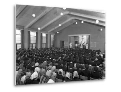 Catholic School Mass, South Yorkshire, 1967-Michael Walters-Metal Print