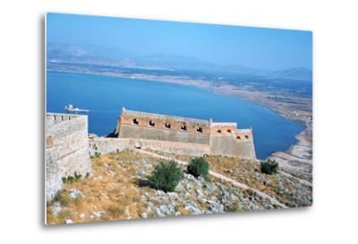 Fortress of Palamidi, Nafplion, Peloponnese, Greece-Vivienne Sharp-Metal Print
