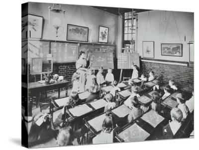 Classroom Scene, Southfields Infants School, Wandsworth, London, 1907--Stretched Canvas Print