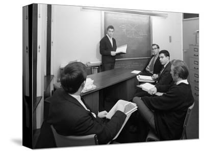 Economics Tutorial, Sheffield University, Sheffield, South Yorkshire, 1967-Michael Walters-Stretched Canvas Print