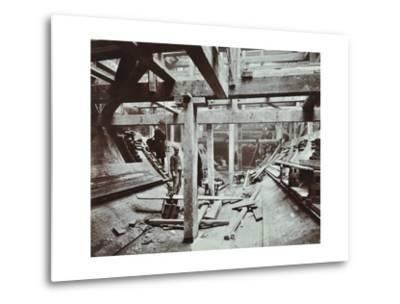 The Rotherhithe Tunnel under Construction, London, March 1905--Metal Print