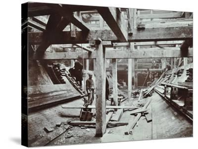 The Rotherhithe Tunnel under Construction, London, March 1905--Stretched Canvas Print