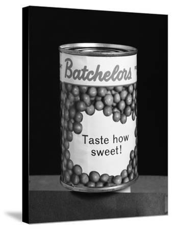 Batchelors Peas Tin, 1963-Michael Walters-Stretched Canvas Print