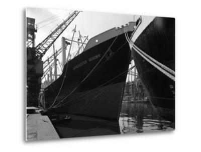 The Manchester Renown in Dock on the Manchester Ship Canal, 1964-Michael Walters-Metal Print