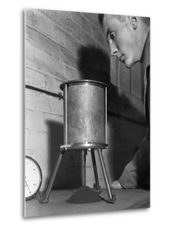A Lab Technician Undertaking a Coal Flow Test, Mapperley Colliery, Derbyshire, 1962-Michael Walters-Metal Print