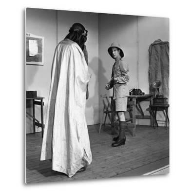 A Scene from the Terence Rattigan Play, Ross, Worksop College, Nottinghamshire, 1963-Michael Walters-Metal Print