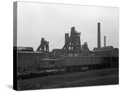 A View of Horden Colliery, County Durham, 1964-Michael Walters-Stretched Canvas Print