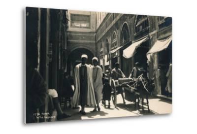 In the Bazaar, Tunis, Egypt, 1936--Metal Print