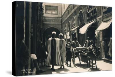 In the Bazaar, Tunis, Egypt, 1936--Stretched Canvas Print