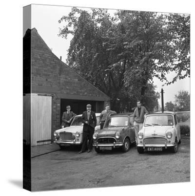 Group of Friends with their Cars, Mexborough, South Yorkshire, 1965-Michael Walters-Stretched Canvas Print