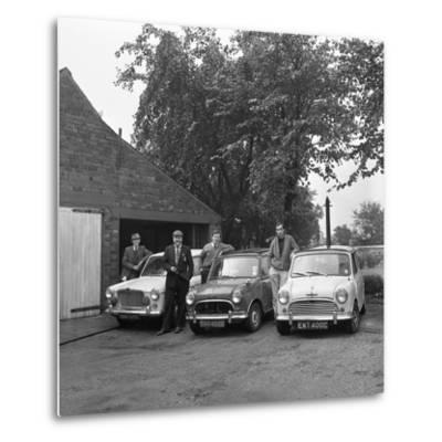 Group of Friends with their Cars, Mexborough, South Yorkshire, 1965-Michael Walters-Metal Print