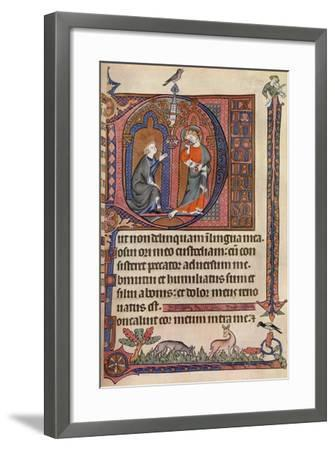 An Illuminated Page from the Vaux-Bardolf Psalter, C1310, (1937)--Framed Giclee Print