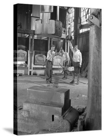 Hot Iron Ready for Forging, J Beardshaw and Sons, Sheffield, South Yorkshire, 1963-Michael Walters-Stretched Canvas Print