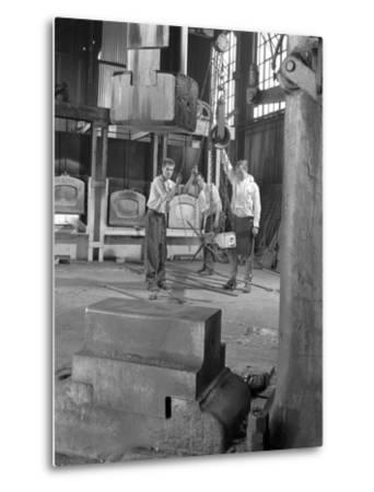Hot Iron Ready for Forging, J Beardshaw and Sons, Sheffield, South Yorkshire, 1963-Michael Walters-Metal Print