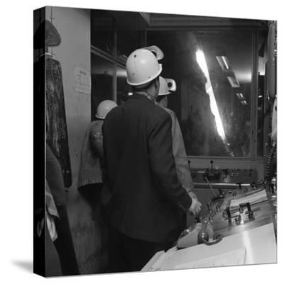 Steelworks Control Room, Park Gate Iron and Steel Co, Rotherham, South Yorkshire, 1964-Michael Walters-Stretched Canvas Print