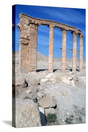 The Oval Piazza, Palmyra, Syria-Vivienne Sharp-Stretched Canvas Print