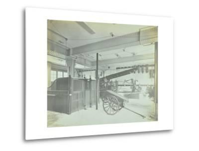 Interior of Appliance Room, Northcote Road Fire Station, Battersea, London, 1906--Metal Print