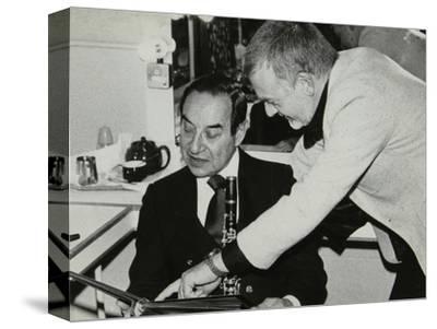 Photographer Denis Williams and Peanuts Hucko, Forum Theatre, Hatfield, Hertfordshire, 1980--Stretched Canvas Print