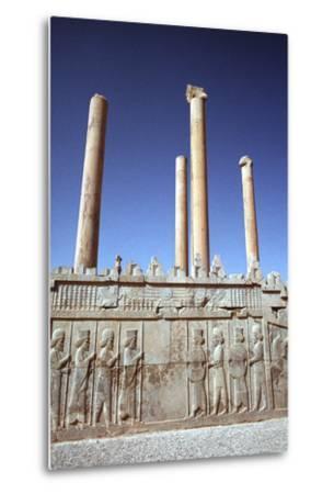 Relief of Medes and Persians, the Apadana, Persepolis, Iran-Vivienne Sharp-Metal Print
