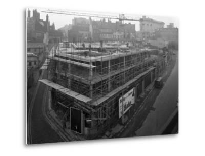 Commercial Development on Campo Lane, Sheffield, South Yorkshire, 1968-Michael Walters-Metal Print