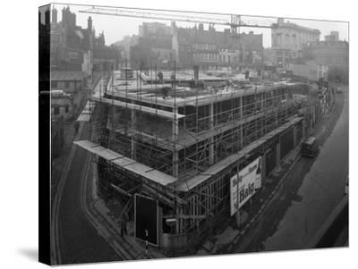 Commercial Development on Campo Lane, Sheffield, South Yorkshire, 1968-Michael Walters-Stretched Canvas Print