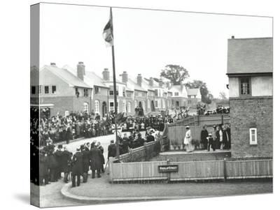 Opening Ceremony on Ruislip Street, Totterdown Estate, Wandsworth, London, 1903--Stretched Canvas Print
