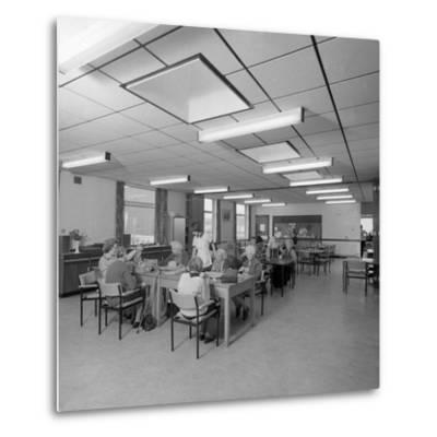 Tea Room, Montague Hospital, Mexborough, South Yorkshire, 1977-Michael Walters-Metal Print