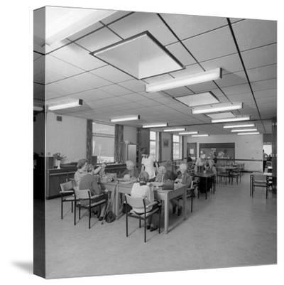 Tea Room, Montague Hospital, Mexborough, South Yorkshire, 1977-Michael Walters-Stretched Canvas Print
