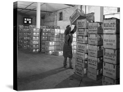 Whisky Blending at Wiley and Co, Sheffield, South Yorkshire, 1960-Michael Walters-Stretched Canvas Print