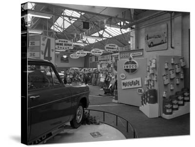 Exhibition at a Ford Dealers in Rotherham, South Yorkshire, 1964-Michael Walters-Stretched Canvas Print