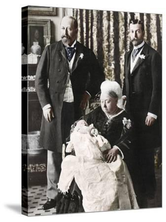 The Future King Edward Viiis Christening Day, 16 July 1894--Stretched Canvas Print