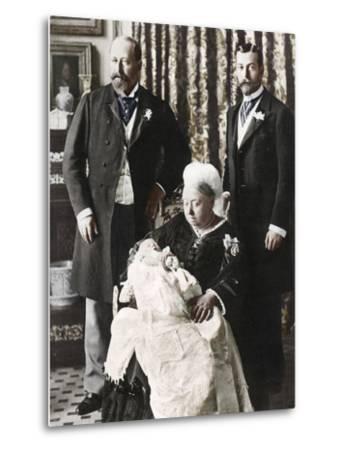 The Future King Edward Viiis Christening Day, 16 July 1894--Metal Print