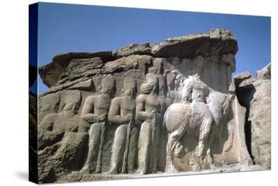 Relief of Shapur I, Naqsh-I-Rustam, Iran-Vivienne Sharp-Stretched Canvas Print